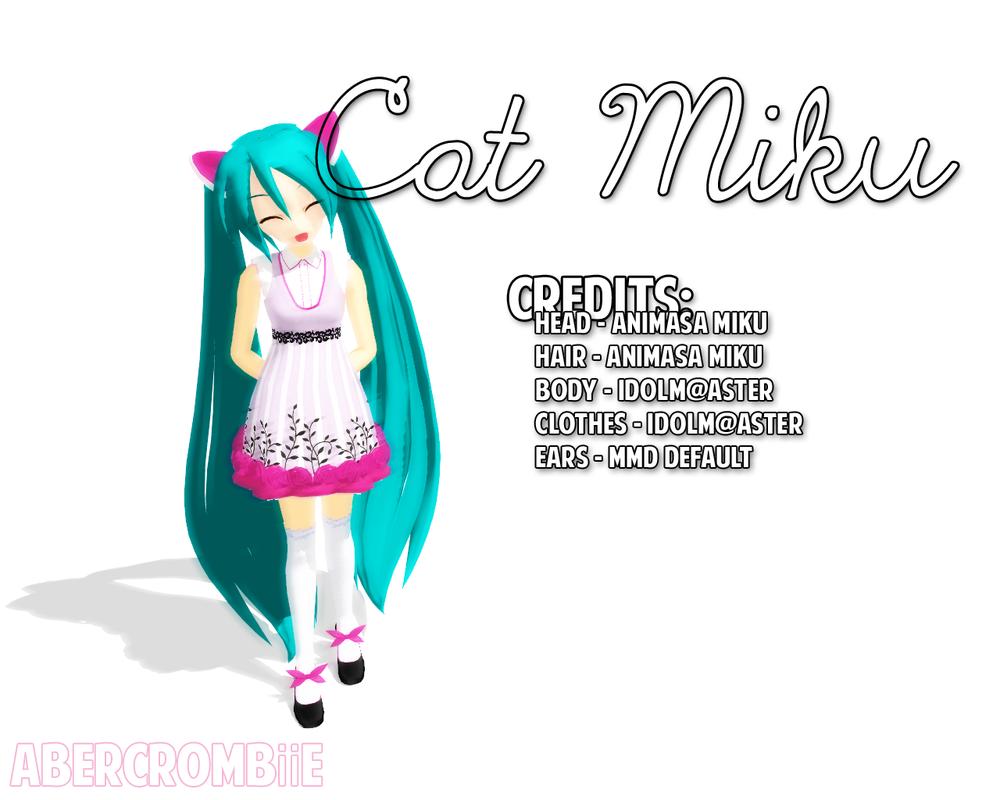 3d mmd kitty miku strips off her waitressing apron deep blue town 6