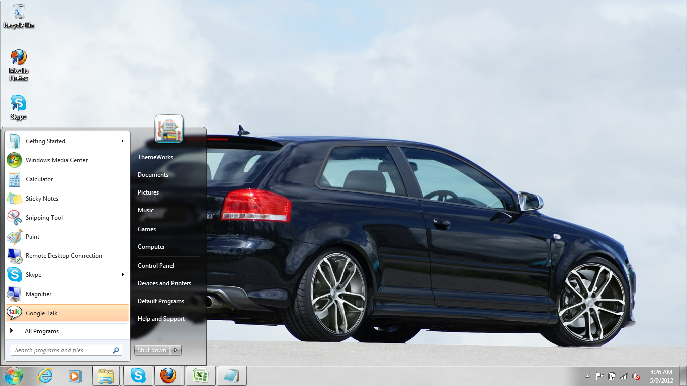 audi s3 2007 windows 7 theme by windowsthemes on deviantart. Black Bedroom Furniture Sets. Home Design Ideas
