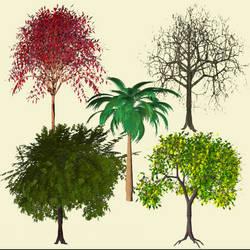 Trees pack of 5 by xxx-0x0-xxx
