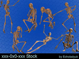 Skeletons pack of 7 by xxx-0x0-xxx