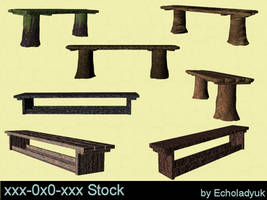 Rustic Benches pack of 7 by xxx-0x0-xxx