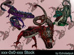 Oriental Dragons pack of 3