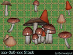 Toadstools pack of 7