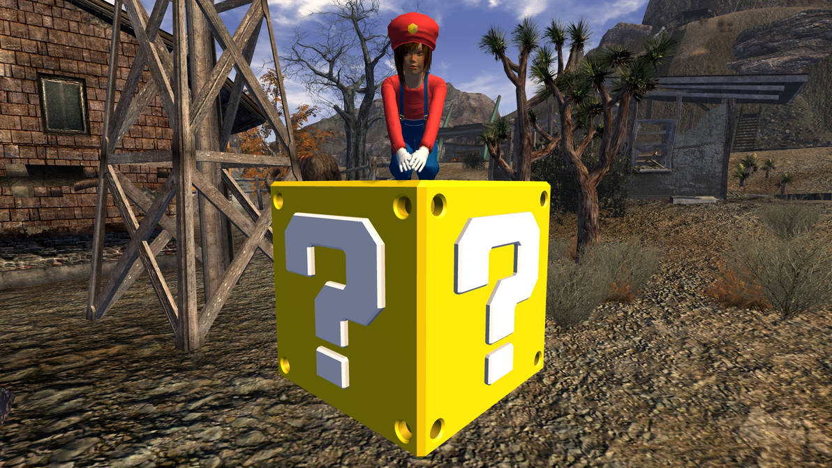 Super Mario Question Block by Shenhua