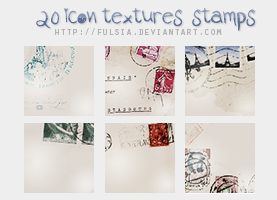 20 icon textures - Stamps [Set 10] by Fulsia