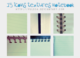 15 icon textures - Notebook [Set 13] by Fulsia