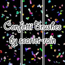 Confetti Photoshop brushes by scarlet-rain