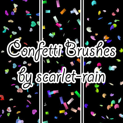 Confetti Photoshop brushes by scarlet-rain on DeviantArt
