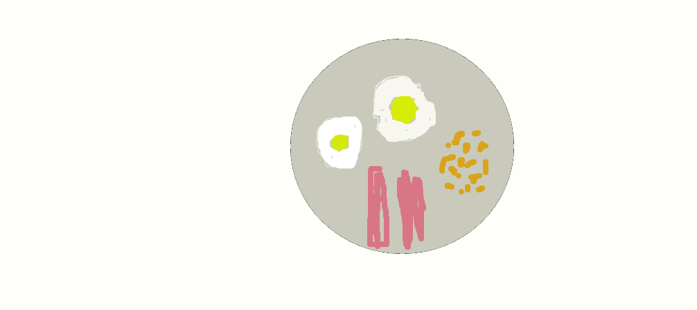 my favourite meal eggs, bacon and beans by artycart