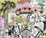 Alice in Wonderland png set