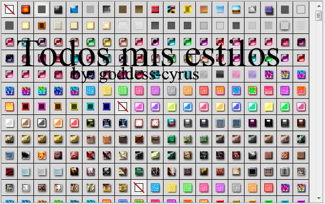 Muchos, estilos para Adobe Photoshop