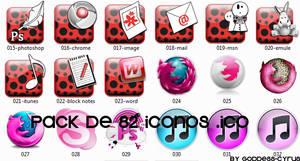 Pack de 82 iconos .ico