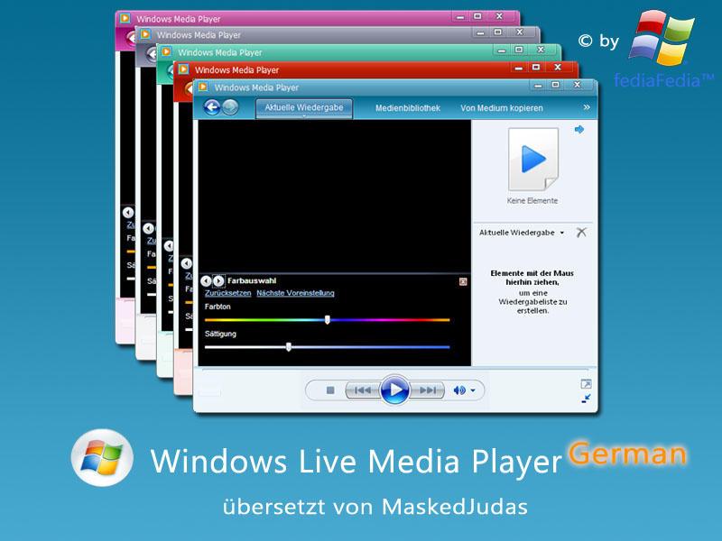 Windows Live Media Player DE by MaskedJudas