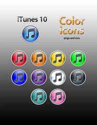 iTunes 10 color icons by dmgephart