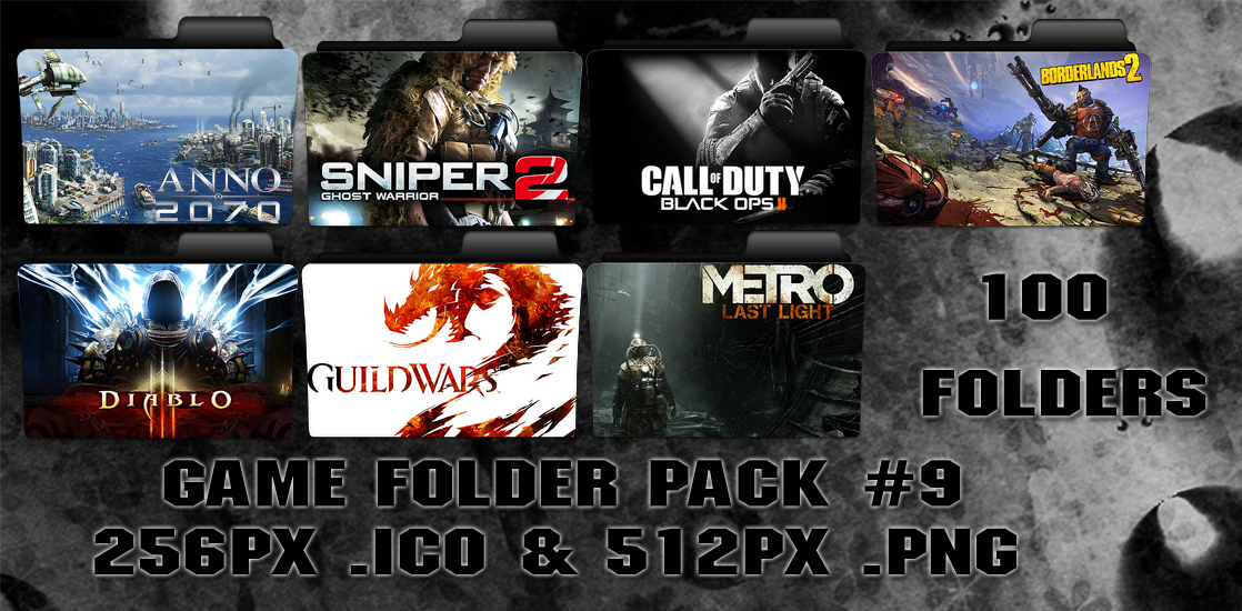 Game Folder Pack 9 100 Folders by floxx001