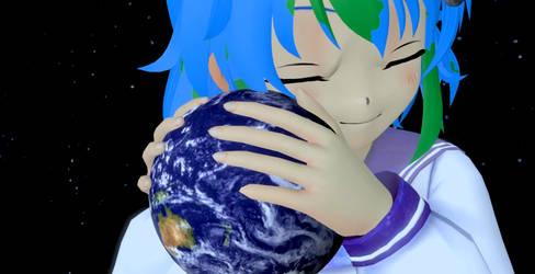 Earthchan's Earth(Animation) by shrunkenlover