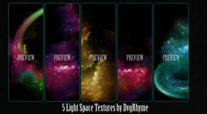 Pack 5 Light Space Textures by Dvg