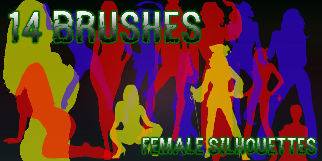 Female Silhouettes Brush by dslmwgraves