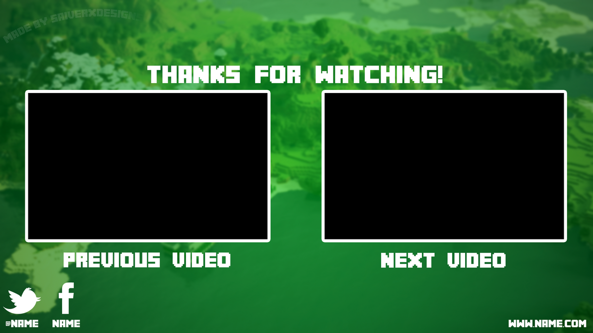 Minecraft youtube outro free by saiverx on deviantart for Minecraft outro template movie maker