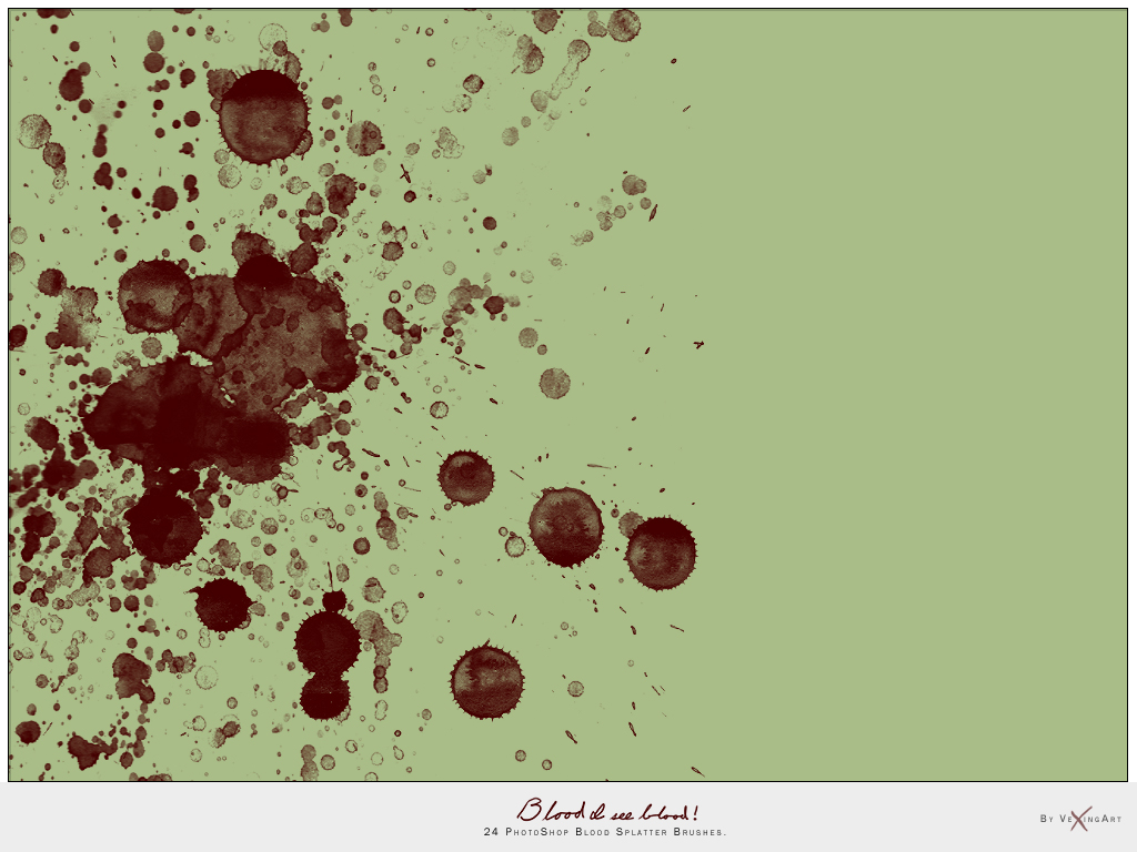 Blood I see Blood