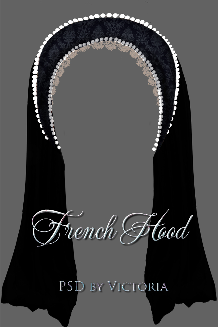 Painted Tudor Style  French Hood - PSD by la-voisin