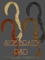 Side Braid- Unrestricted Hair PSD by la-voisin