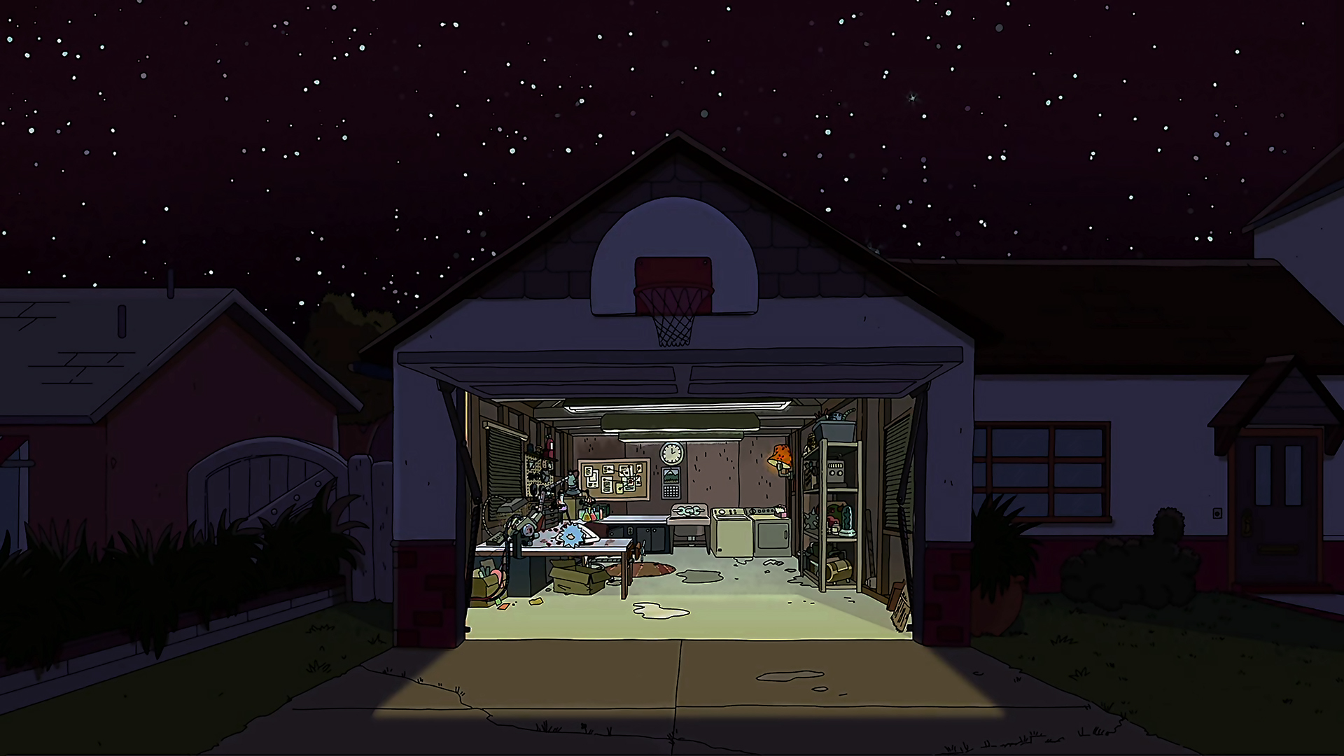 30+ Rick And Morty Garage Background Gif