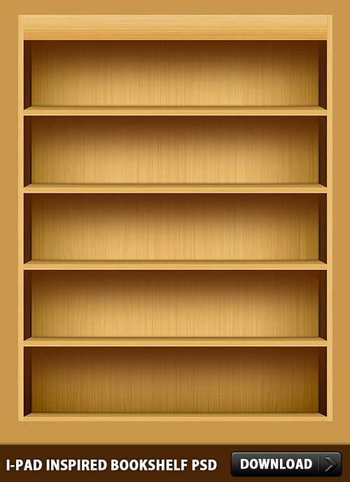iPad-Inspired-Bookshelf-PSD by rakanksa