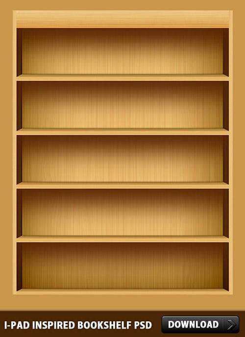 iPad-Inspired-Bookshelf-PSD by rakanksa on DeviantArt