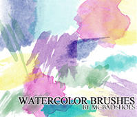 Watercolor Brushes by rakanksa