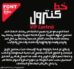 VIP Control Arabic Font