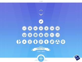 Circular Icons 2 - Free PSD by alpercakici