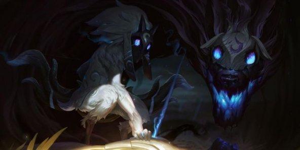 Kindred Minimalist Wallpaper League Of Legends By: The Hunt By BlackRose2172 On DeviantArt