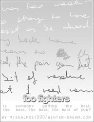 Foo Fighters lyrics by missalmost000