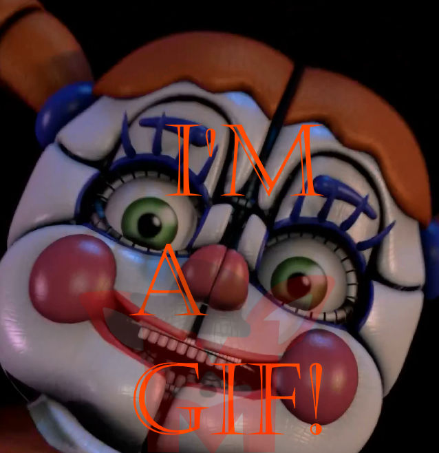 FNaF SFM: Circus Baby Jumpscare [GIF] By Mikol1987 On