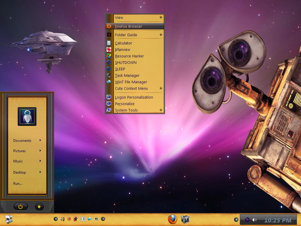 Win7 Wall-e Theme by KeybrdCowboy