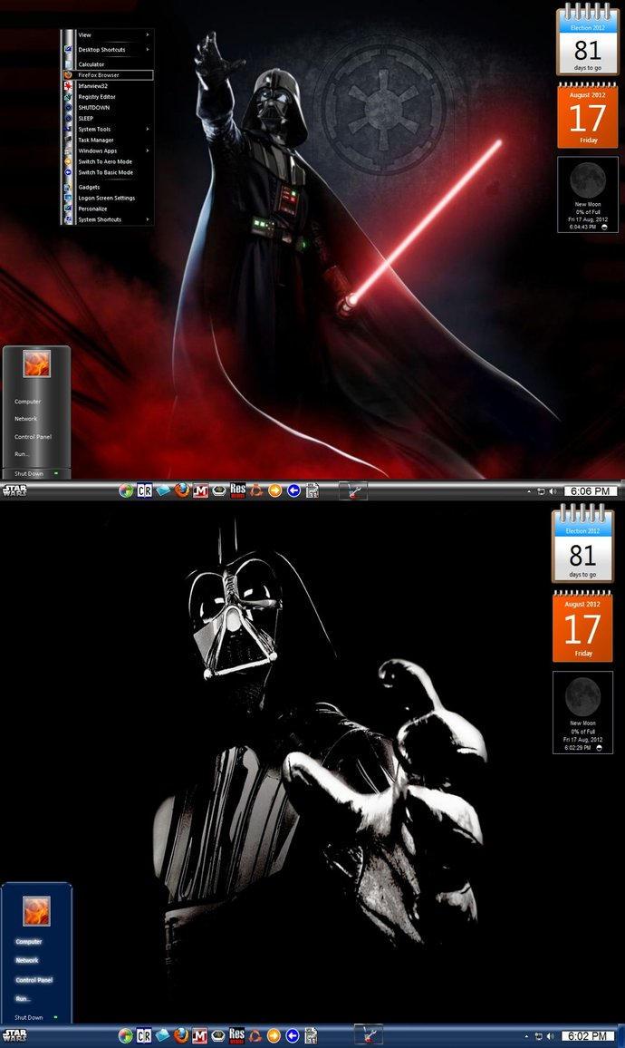 Win7  Darth Vader Theme by KeybrdCowboy