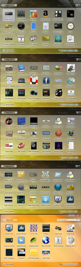 90 Win7 Gadget Collection