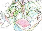 X vs Magma Dragoon (Key Animation Test)