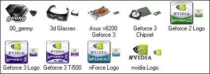Genesis Nvidia Asus XP Icons by genesis01
