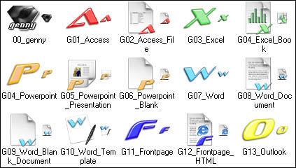 Genesis MSOffice 2 XP icons by genesis01