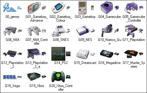 Genesis Consoles XP Icons by genesis01