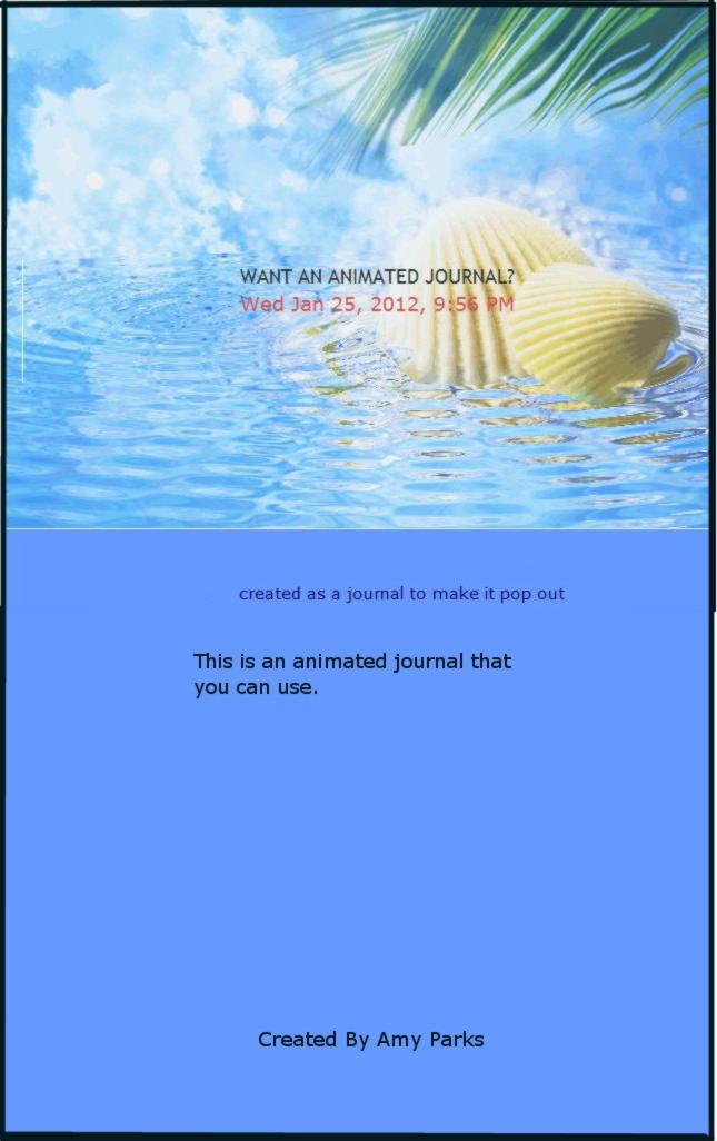 ANIMATED SEASHELL JOURNAL SKIN by Aim4Beauty