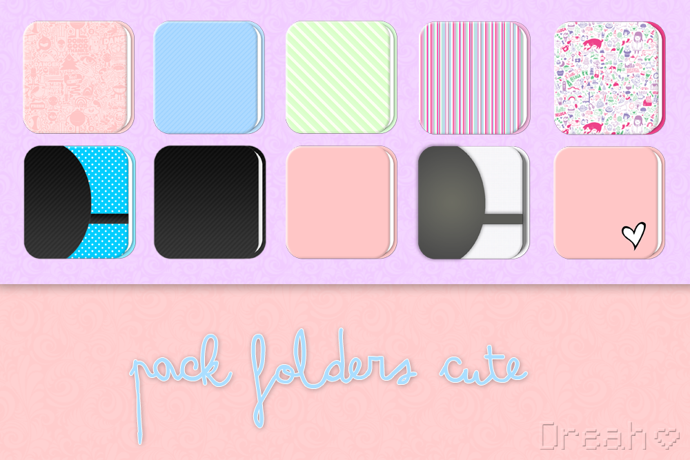Girly Folder Icons Cut...