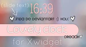 Lovely Clock Skin Xwidget by SamyBelieber