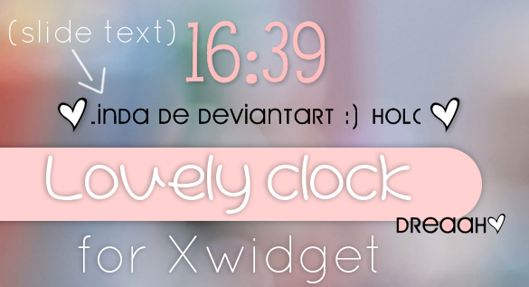 Lovely Clock Skin Xwidget by SamyBelieber