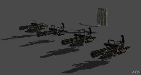 M134 Vulcan Minigun  Final For Xnalara