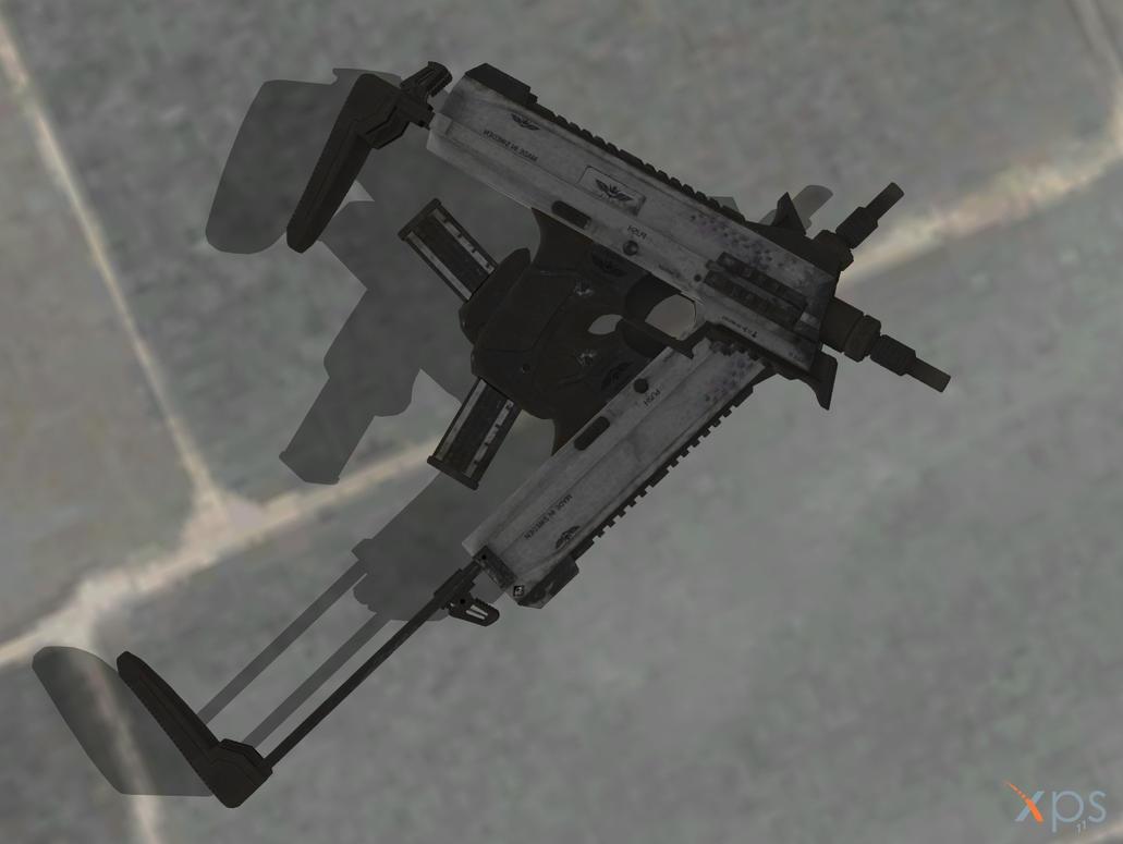 Advanced Warfare - MP11 For Xnalara by kalash-1947