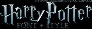 Harry Potter font + style