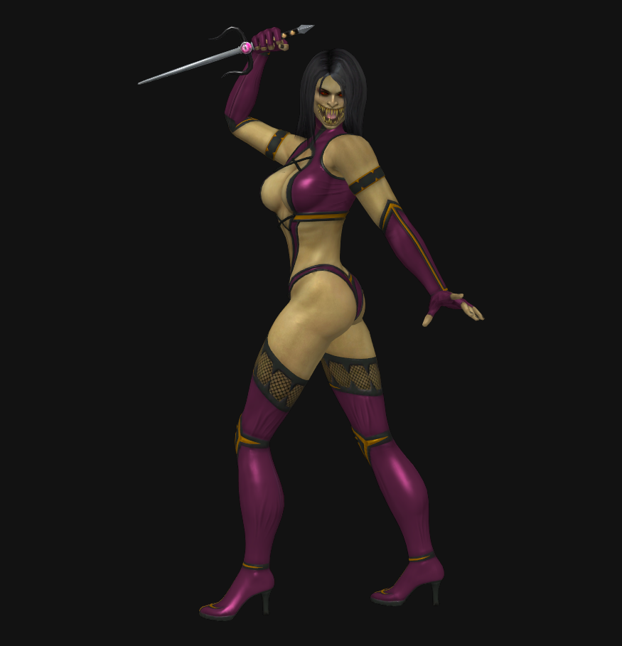 Mileena - no mask by dim1988 on DeviantArt